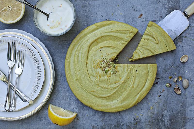 Lemon & Pistachio Pie, from my cookbook