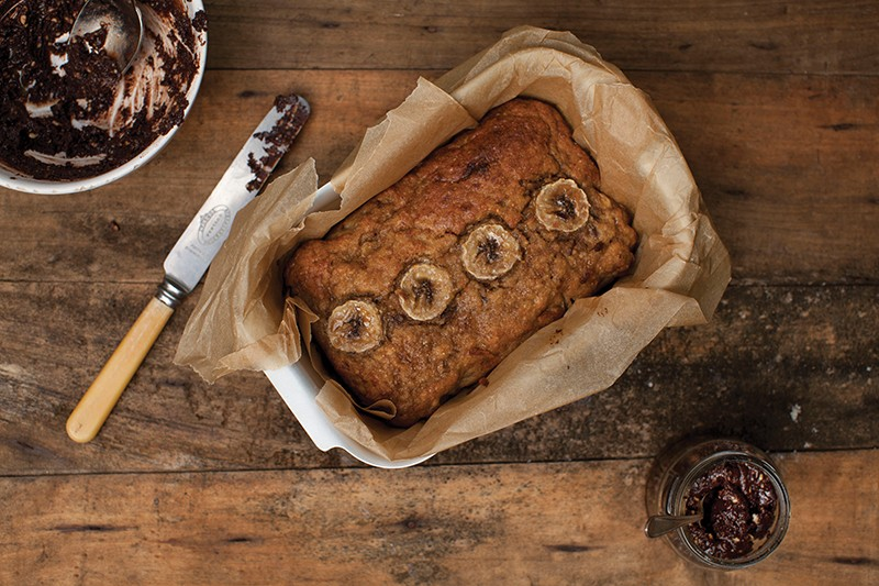 Rye Banana Bread with virtuous Nutella