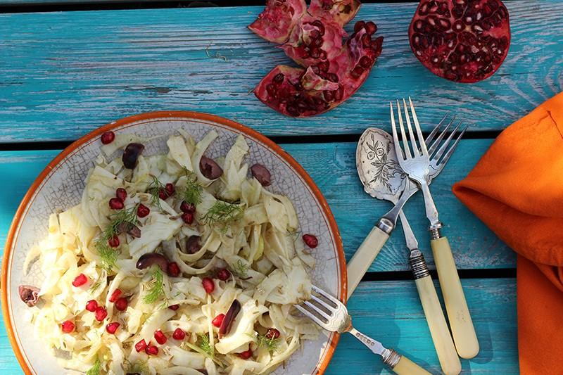 Carpaccio of raw fennel