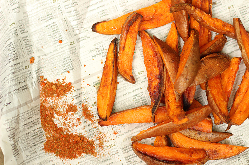 BBQ-Flavoured Sweet Potato Fries
